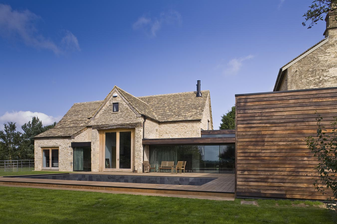 Furzey Hall Farm Oxfordshire on modern stone homes