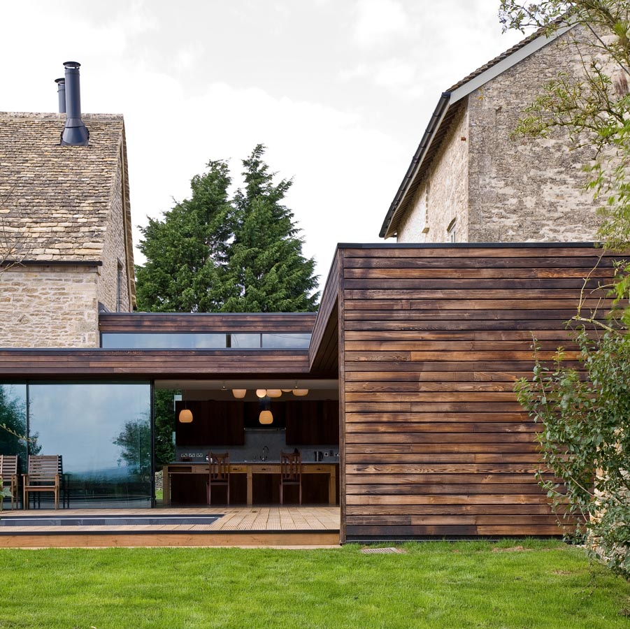 Furzey Hall Farm - Burnt Cedar Cladding